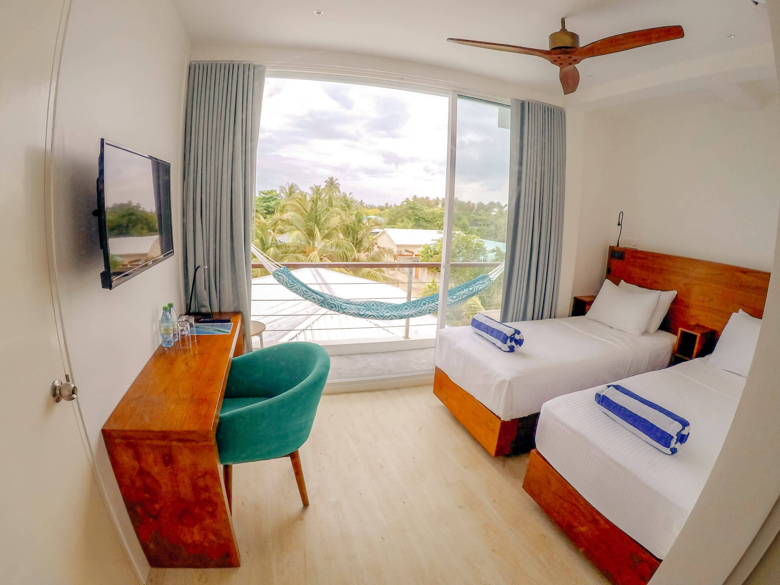 Twin Room - One of Bliss Dhigurah' room types. Maldives